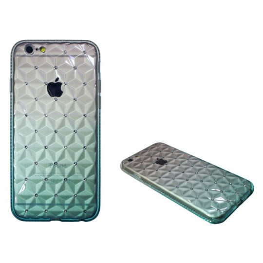 Apple iPhone 6/6S - Gumiran ovitek (TPUD) - 3D moder