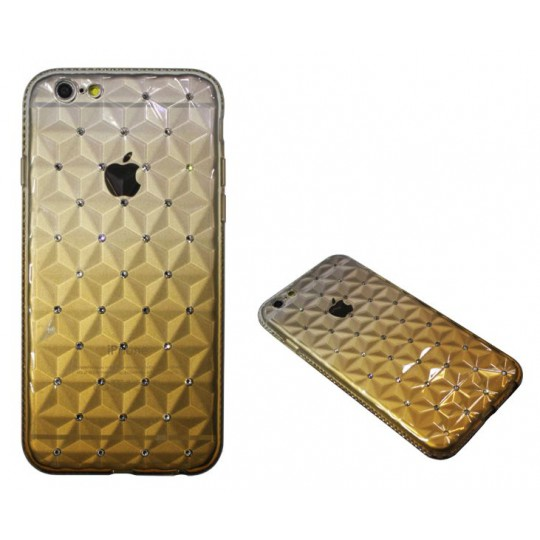 Apple iPhone 6/6S - Gumiran ovitek (TPUD) - 3D rjav