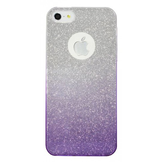 Apple iPhone 5/5S/SE - Gumiran ovitek (TPUB) - vijolična