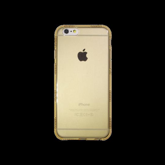 Apple iPhone 6/6S - Gumiran ovitek (TPUD) - rob1 zlat