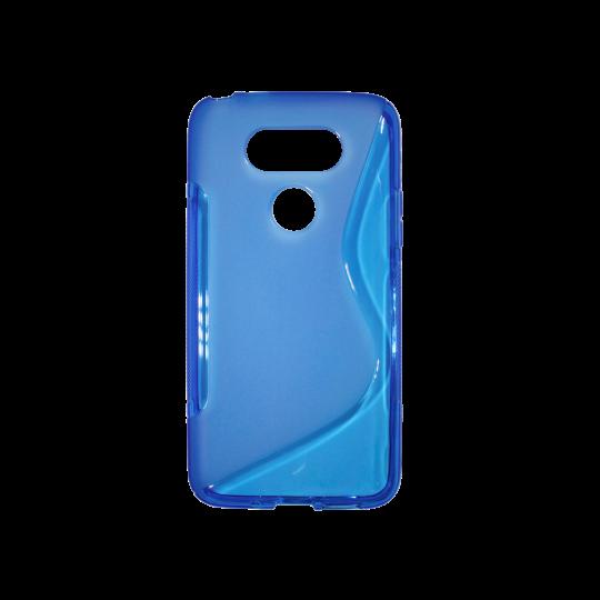 LG G5/G5 SE - Gumiran ovitek (TPU) - modro-prosojen SLine