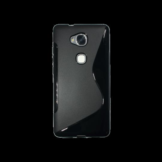Huawei Honor 5X - Gumiran ovitek (TPU) - črn SLine