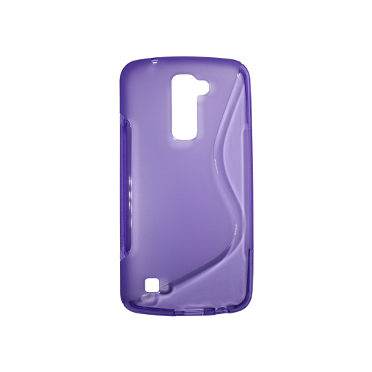LG K10 - Gumiran ovitek (TPU) - vijolično-prosojen SLine