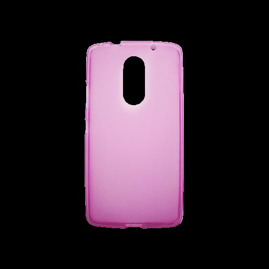 Lenovo Vibe X3 - Gumiran ovitek (TPU) - roza-prosojen mat
