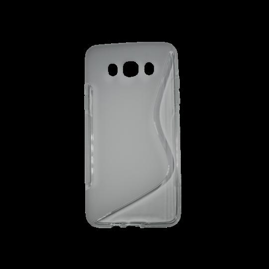 Samsung Galaxy J7 (2016) - Gumiran ovitek (TPU) - sivo-prosojen SLine
