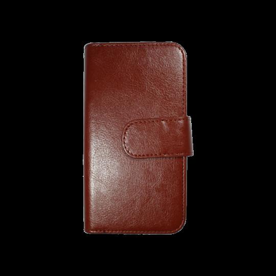 Apple iPhone 6/6S - Preklopna torbica (WLD) - rjava