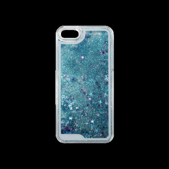 Apple iPhone 5/5S/SE - Okrasni pokrovček (polnilo zvezdice) - modra