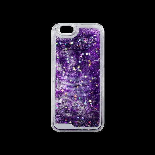Apple iPhone 5/5S/SE - Okrasni pokrovček (polnilo zvezdice) - vijolična