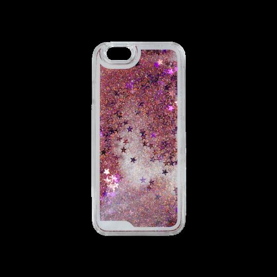 Apple iPhone 6/6S - Okrasni pokrovček (polnilo zvezdice) - roza