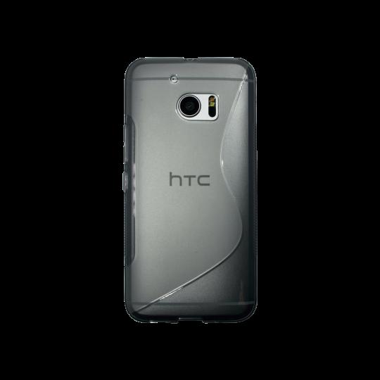 HTC 10/10 Lifestyle - Gumiran ovitek (TPU) - sivo-prosojen SLine