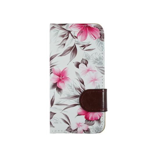 Apple iPhone 5/5S/SE - Preklopna torbica (64) - bela