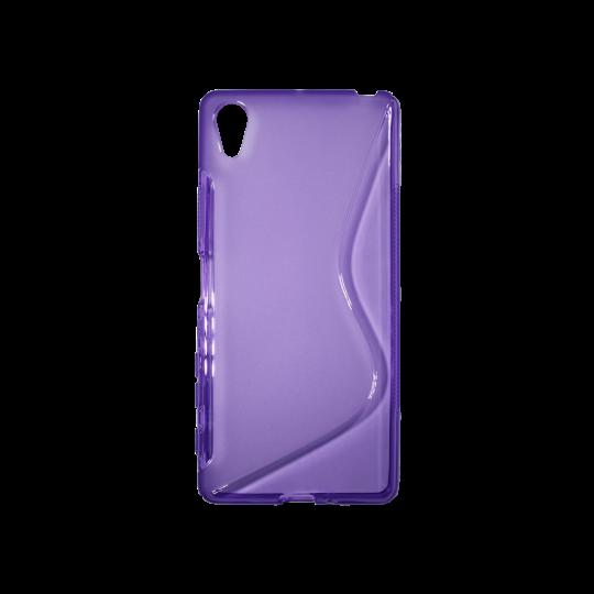 Sony Xperia X - Gumiran ovitek (TPU) - vijolično-prosojen SLine