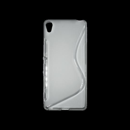 Sony Xperia XA - Gumiran ovitek (TPU) - sivo-prosojen SLine