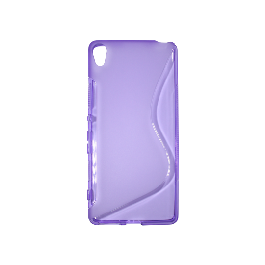 Sony Xperia XA - Gumiran ovitek (TPU) - vijolično-prosojen SLine