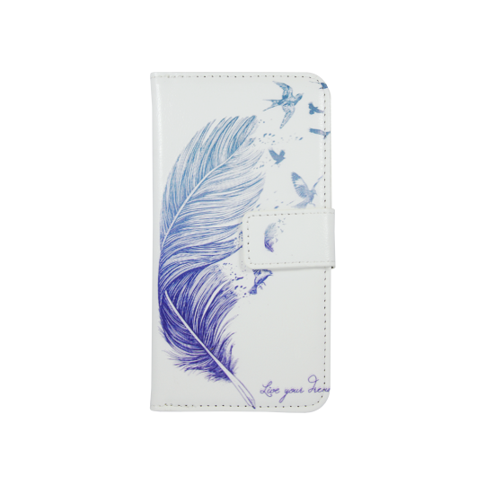 Apple iPhone 6/6S - Preklopna torbica (WLGPD) - Feather