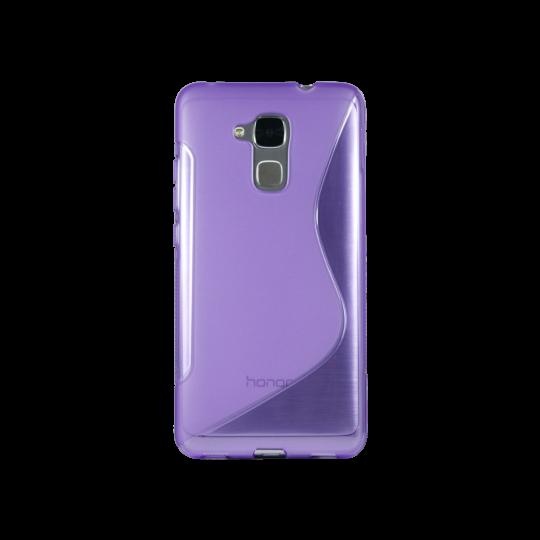 Huawei Honor 7 Lite/Honor 5C - Gumiran ovitek (TPU) - vijolično-prosojen SLine