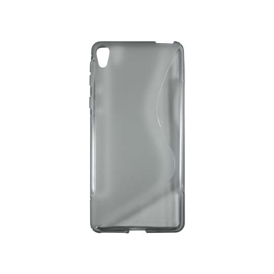Sony Xperia E5 - Gumiran ovitek (TPU) - sivo-prosojen SLine