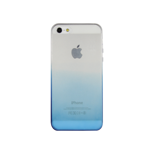 Apple iPhone 5/5S/SE - Gumiran ovitek (TPUO) - modra