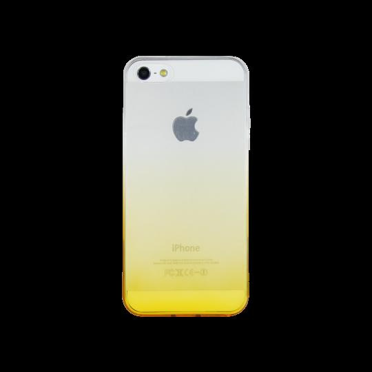 Apple iPhone 5/5S/SE - Gumiran ovitek (TPUO) - rumena