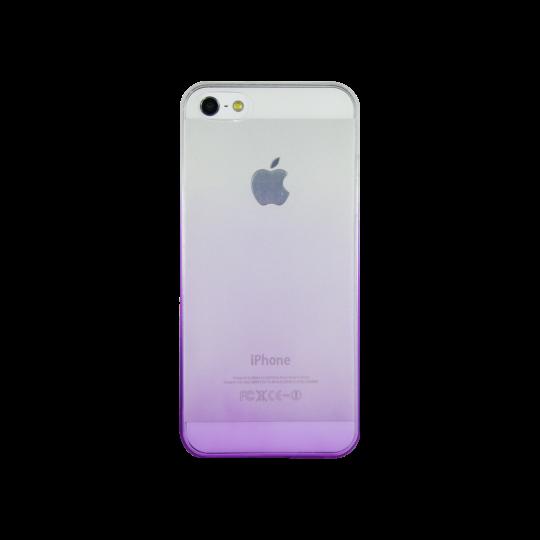 Apple iPhone 5/5S/SE - Gumiran ovitek (TPUO) - vijolična