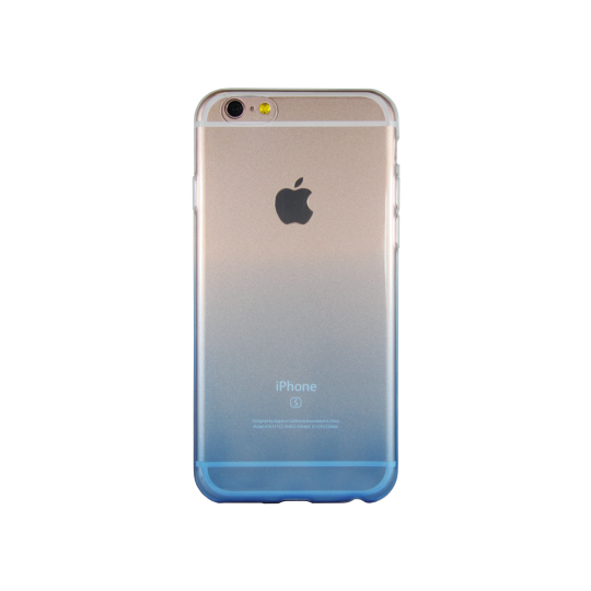 Apple iPhone 6/6S - Gumiran ovitek (TPUO) - modra