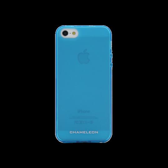 Apple iPhone 5/5S/SE - Gumiran ovitek (TPUM) - modro-prosojen mat