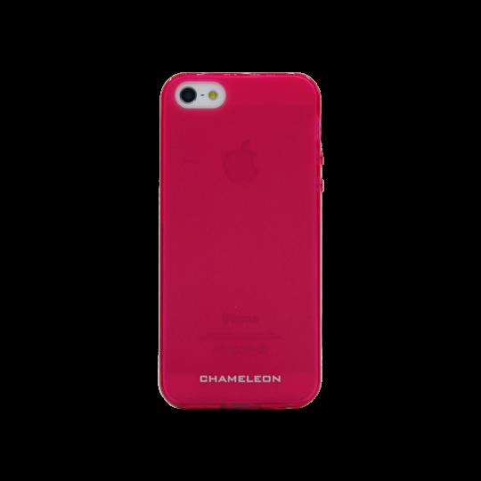 Apple iPhone 5/5S/SE - Gumiran ovitek (TPUM) - roza-prosojen mat