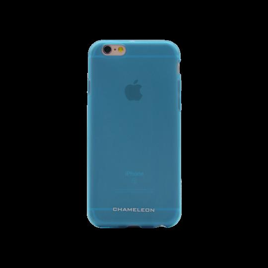 Apple iPhone 6/6S - Gumiran ovitek (TPUM) - modro-prosojen mat