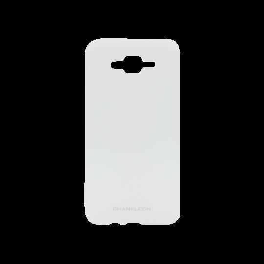 Samsung Galaxy J7 (2016) - Gumiran ovitek (TPUM) - belo-prosojen mat