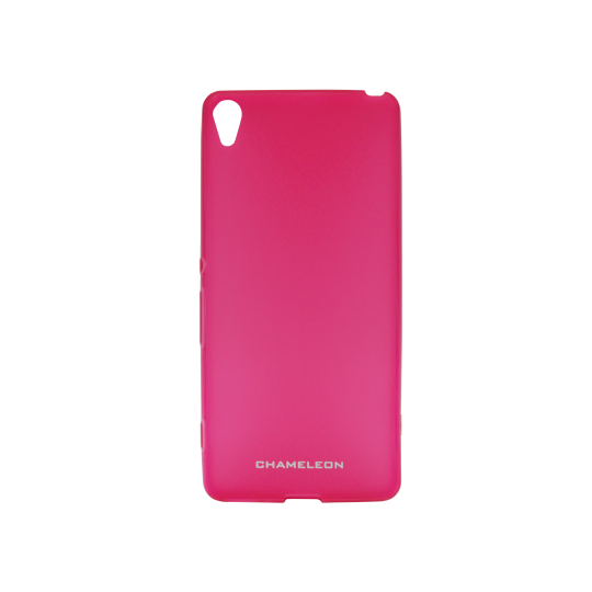 Sony Xperia XA - Gumiran ovitek (TPUM) - roza-prosojen mat
