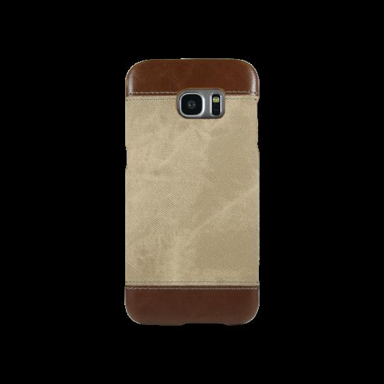 Samsung Galaxy S7 Edge - Okrasni pokrovček (TPL) - rjav