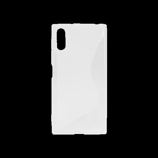 Sony Xperia XZ - Gumiran ovitek (TPU) - belo-prosojen SLine