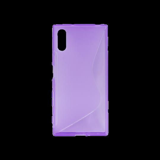 Sony Xperia XZ - Gumiran ovitek (TPU) - vijolično-prosojen SLine