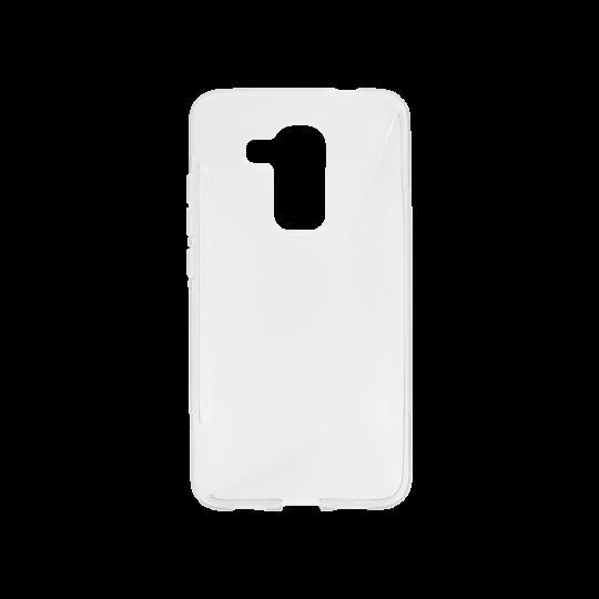 Huawei nova plus - Gumiran ovitek (TPU) - belo-prosojen SLine