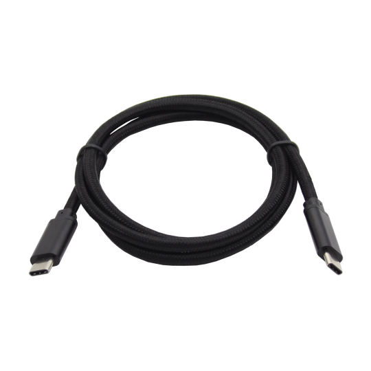 Podatkovno-polnilni kabel Type C 3.1  -Type C 3.1 - črn, najlon
