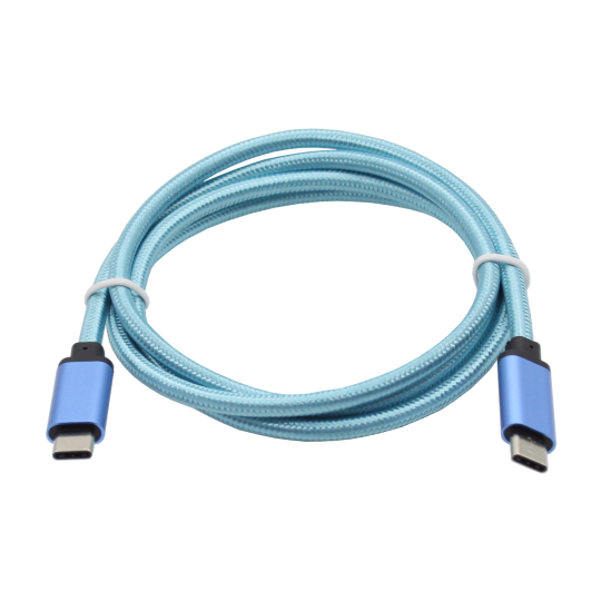 Podatkovno-polnilni kabel Type C 3.1  -Type C 3.1 - moder, najlon