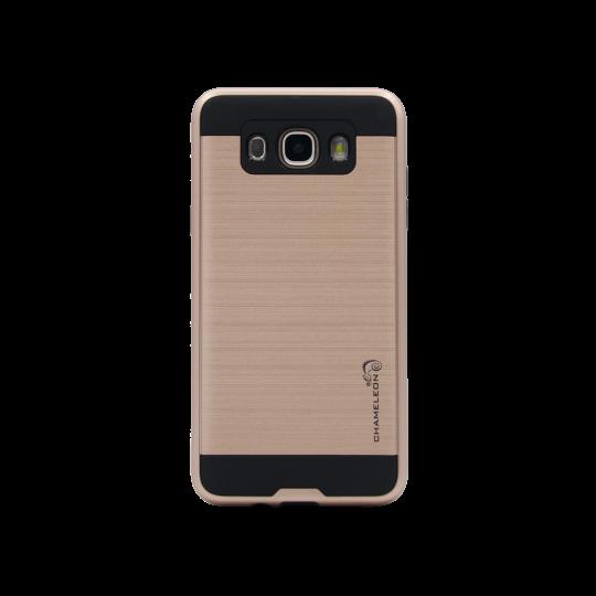 Samsung Galaxy J7 (2016) - Gumiran ovitek (ARM-01) - roza-zlat