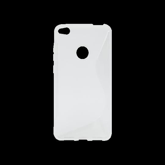 Huawei Honor 8 Lite/8 Lite (2017)/P9 Lite (2017)/ Nova Lite - Gumiran ovitek (TPU) - belo-prosojen SLine