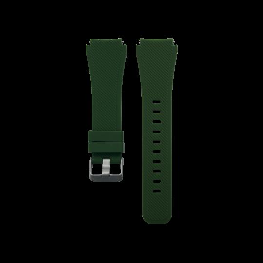 Silikonski pašček Samsung Gear S3 (22mm) - temno zelen
