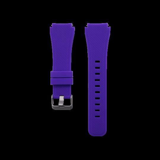 Silikonski pašček Samsung Gear S3 (22mm) - vijoličen