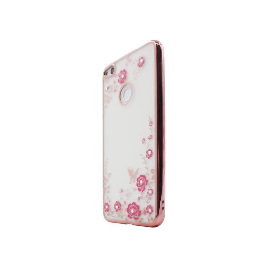 Huawei Honor 8 Lite/8 Lite (2017)/P9 Lite (2017)/ Nova Lite - Gumiran ovitek (TPUE) - roza rob - roza rožice