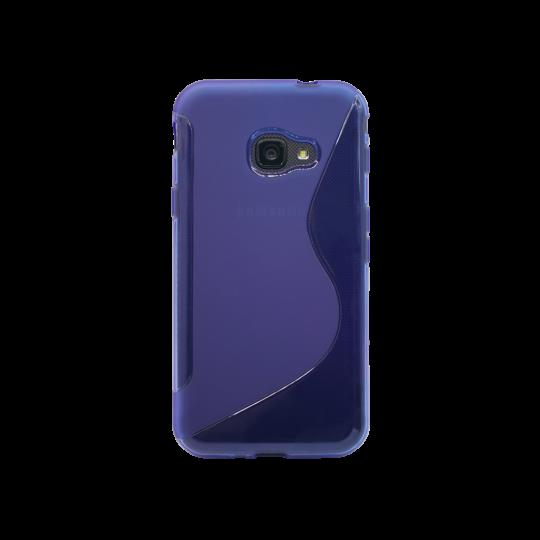 Samsung Galaxy Xcover 4/4S - Gumiran ovitek (TPU) - modro-prosojen SLine