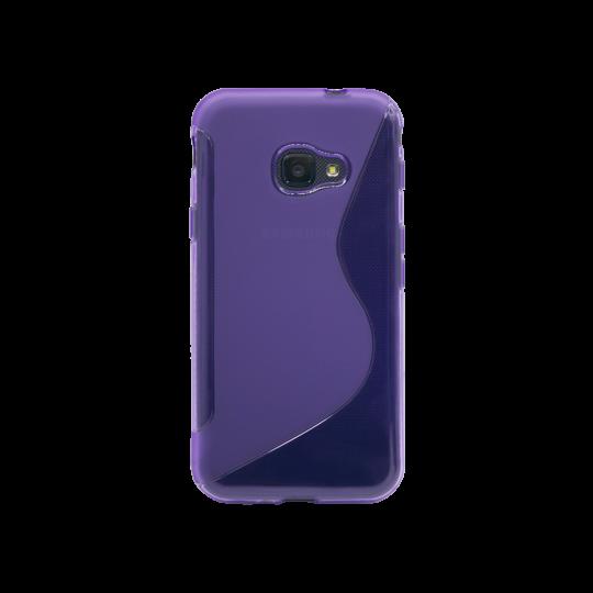 Samsung Galaxy Xcover 4/4S - Gumiran ovitek (TPU) - vijolično-prosojen SLine