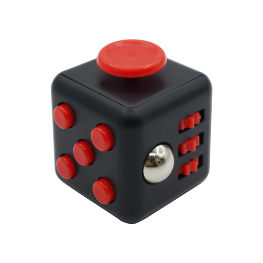 Kocka za sproščanje - črno-rdeča