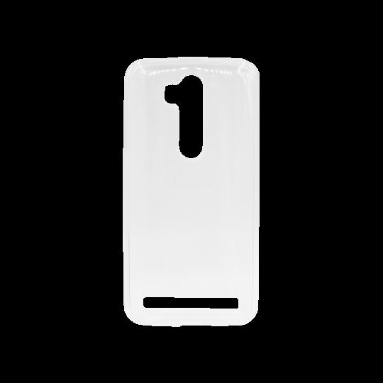 Asus Zenfone Go ZB552KL - Gumiran ovitek (TPU) - belo-prosojen svetleč