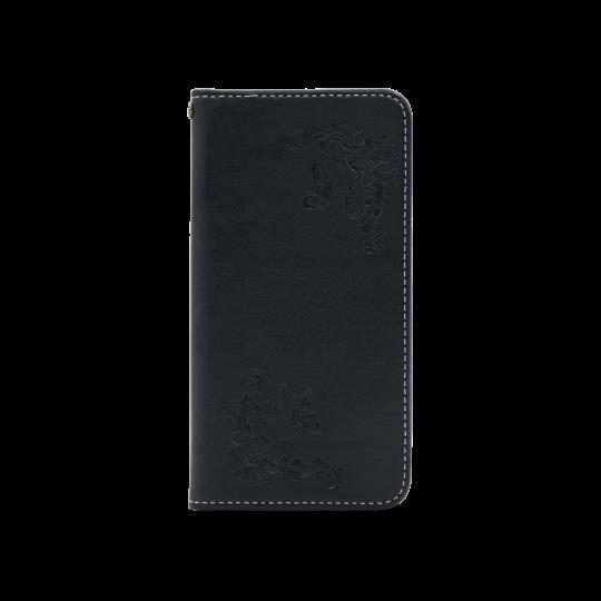 Apple iPhone X / XS - Preklopna torbica (WLGO-Butterfly) - črna