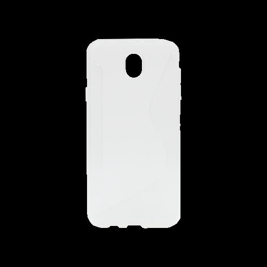 Samsung Galaxy J7 (2017) - Gumiran ovitek (TPU) - belo-prosojen CS-Type