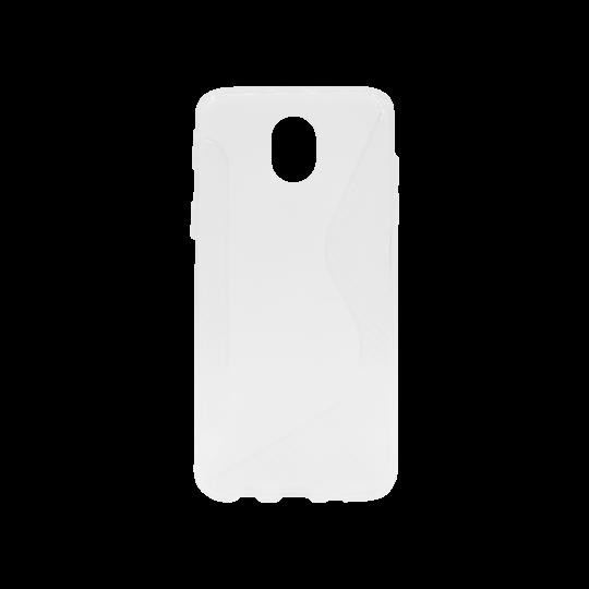 Samsung Galaxy J5 (2017) - Gumiran ovitek (TPU) - belo-prosojen CS-Type