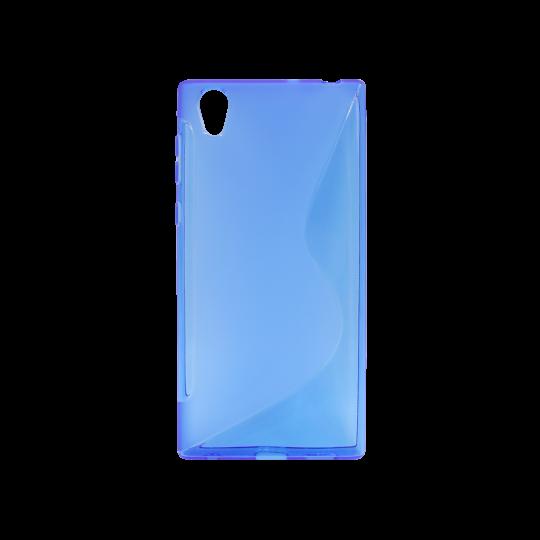 Sony Xperia L1 - Gumiran ovitek (TPU) - modro-prosojen SLine