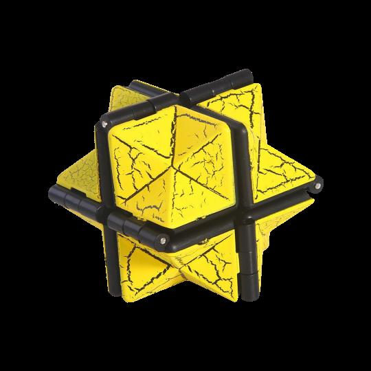Fidget neskončna magična kocka (HEX) - rumena